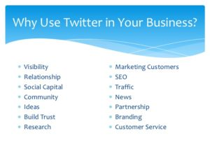 Social Networks for Small Business