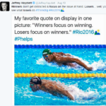 Michael Phelps swimming for the win