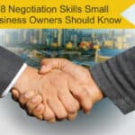 Negotiation skills handshake